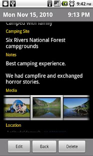 Camping Journal - screenshot thumbnail