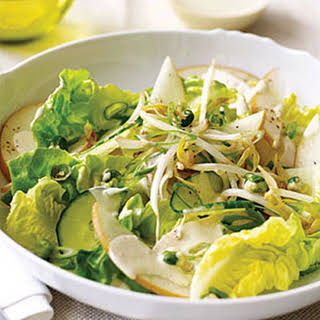 Asian Chicken Salad with Wasabi Dressing.