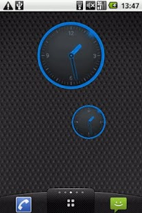 Round Blue Clock Widget