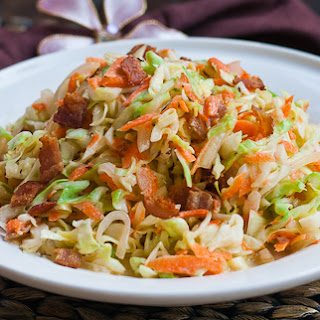 Cabbage Bacon Salad with Buttermilk Vinaigrette