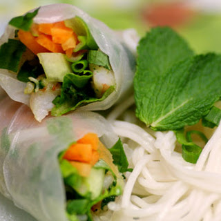 Vietnamese-Style Spring Rolls with Shrimp.