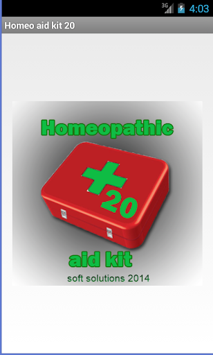 Homeopathic aid kit 20