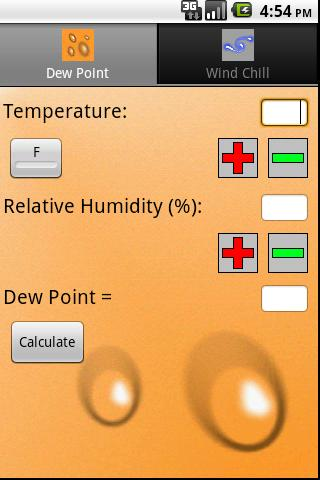 Weather Calculator - screenshot