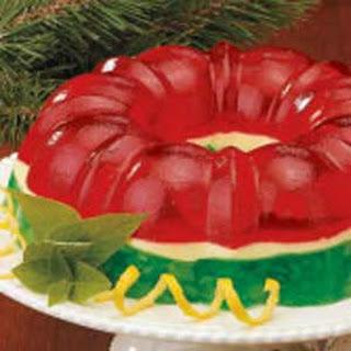 Christmas Gelatin Ring.