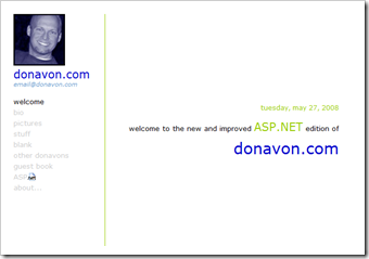 donavon.com from 2002