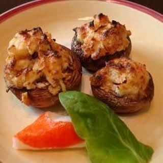 Cajun Crab Stuffed Mushrooms.