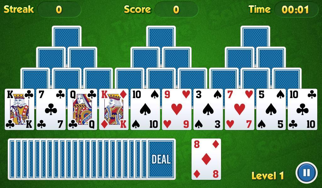 TriPeaks Solitaire Challenge- screenshot