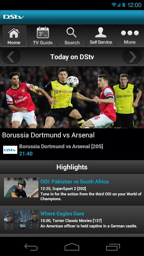 DStv - screenshot