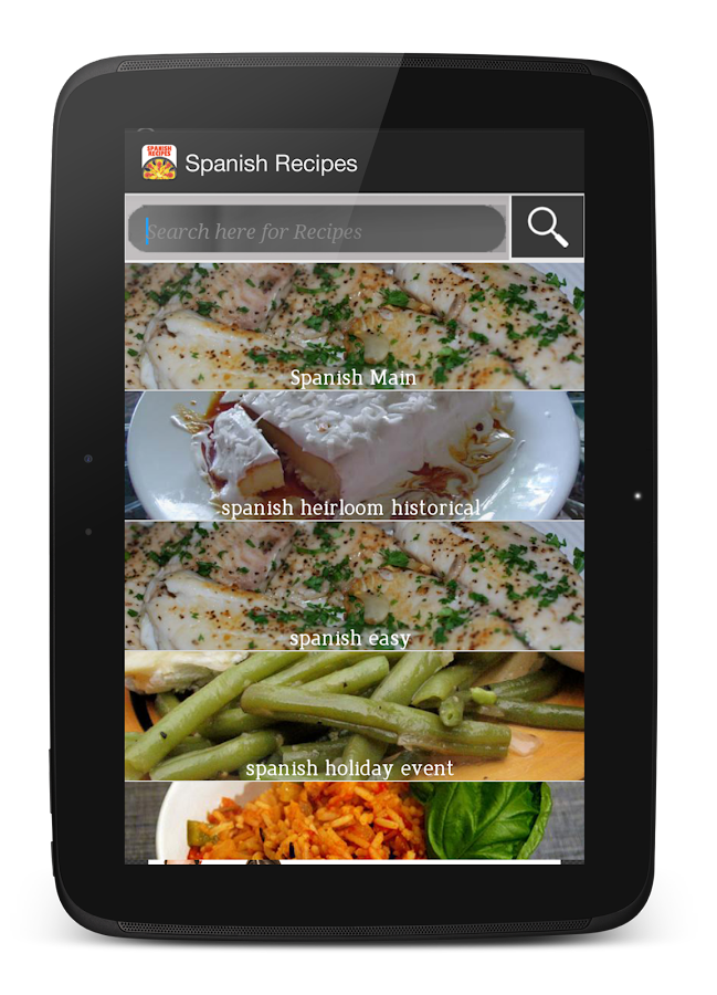 Cookbook free : Spanish Recipe - screenshot