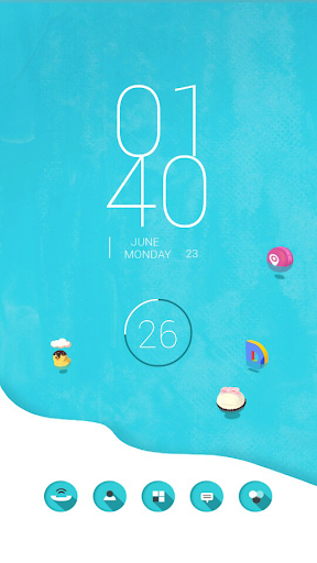 Sweet Sea Buzz Launcher Theme