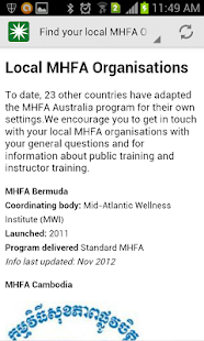 Mental Health First Aid (MHFA)- screenshot thumbnail