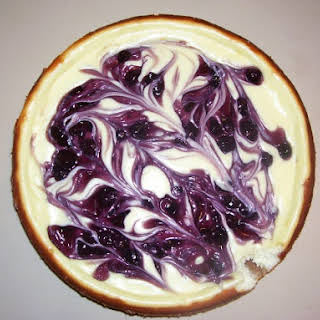 Blueberry Swirl Cheesecake.