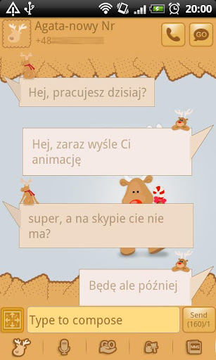 GO SMS Pro Rudolph Theme