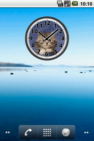 Sweet Cat Clock screenshots 1