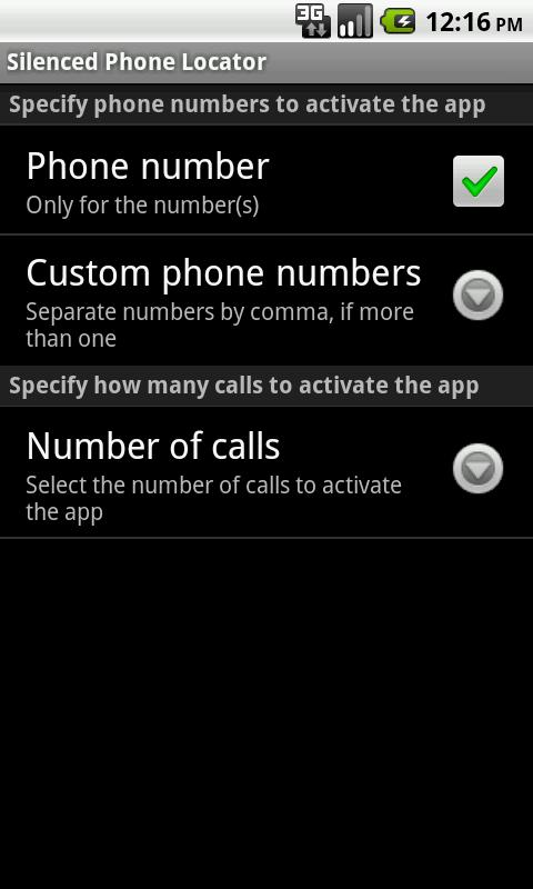 Silenced Phone Locator - screenshot