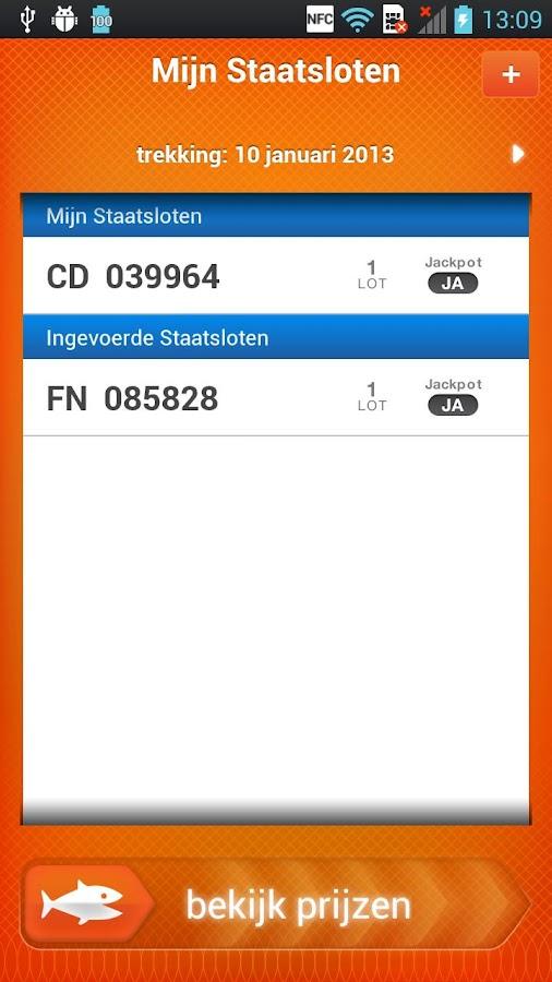 Staatsloterij - screenshot