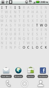 Text Clock Lite Live Wallpaper - screenshot thumbnail