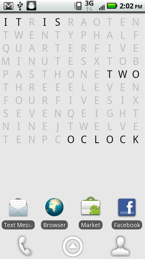 Text Clock Lite Live Wallpaper - screenshot