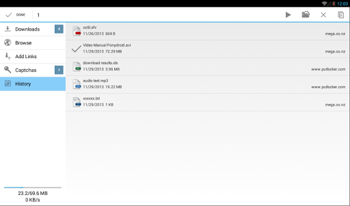 Ponydroid Download Manager  screenshots 9