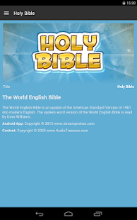 Holy Bible - Audio Book Ed.- screenshot thumbnail