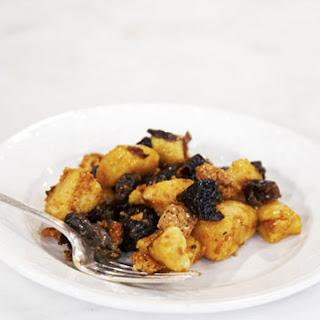 Sweet Potato Gnocchi, Drunken Prunes, and Amaretti