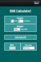 Screenshot of BMI Calculator!
