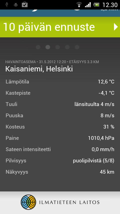 FMI Weather - screenshot