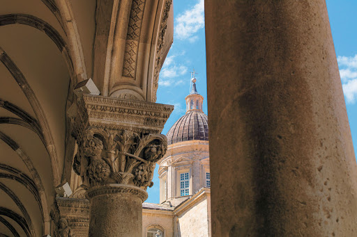Dubrovnik-architecture - A cruise aboard Tere Moana takes you to medieval Dubrovnik, Croatia, Europe's best-preserved walled city.