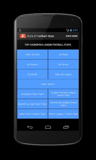 Euro 5 Football Stats