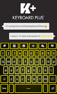 Neon Yellow Keyboard - náhled