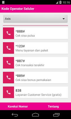 Kode Opsel - screenshot