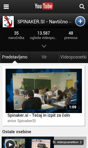 Spinaker.si - videoposnetki