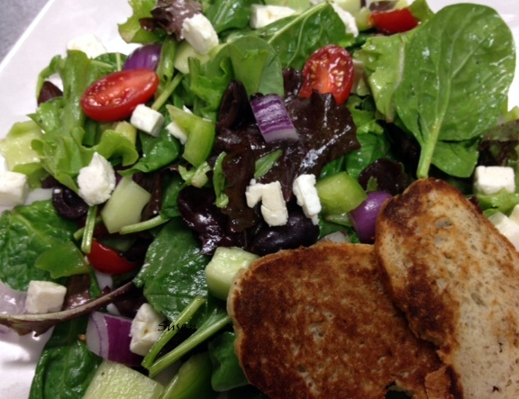 Greek Salad & French Bread