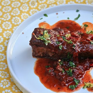 Red Wine-Braised Short Ribs With Lemon-Herb Gremolata