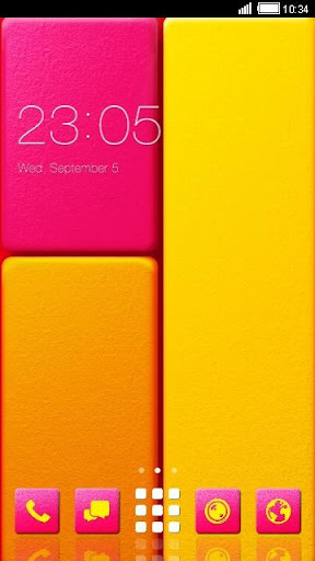 Bright Color Android Theme