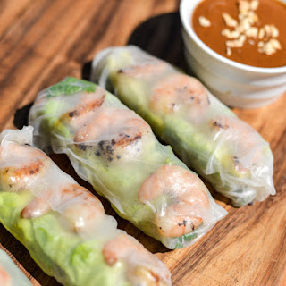 Vietnamese Grilled Shrimp Summer Rolls.