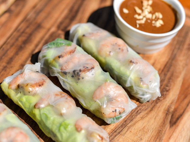 Vietnamese Grilled Shrimp Summer Rolls Recipe
