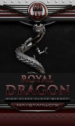 ドラゴン時計ウィジェット ロイヤル