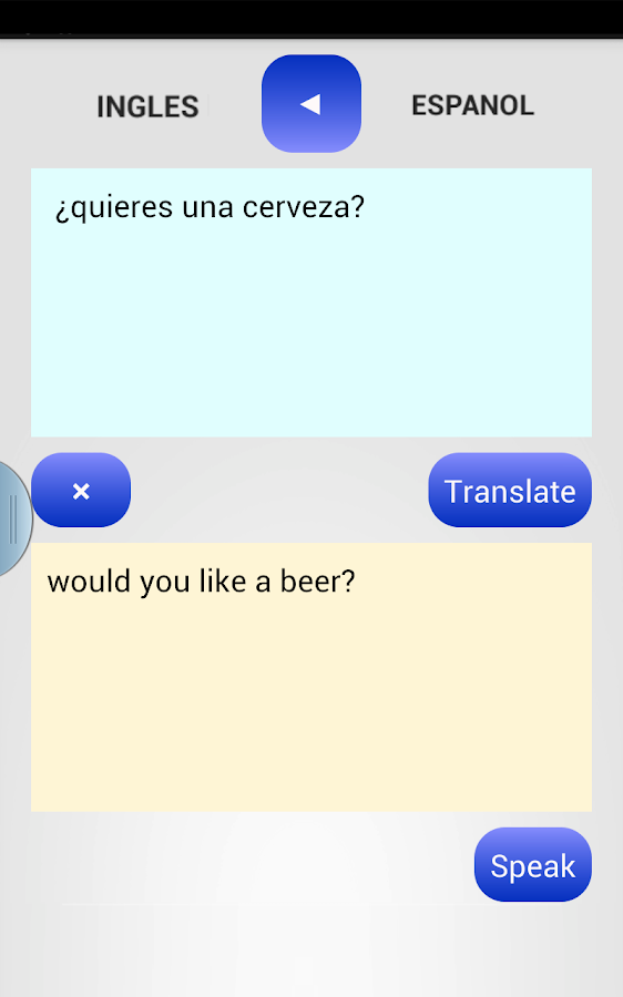 SPANISH TRANSLATOR- screenshot