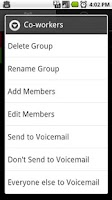 Screenshot of Group to Voicemail