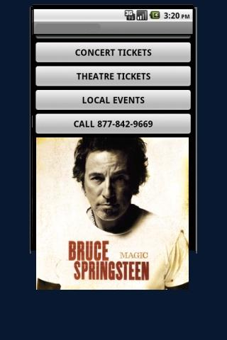 Bruce Springsteen Tickets - screenshot