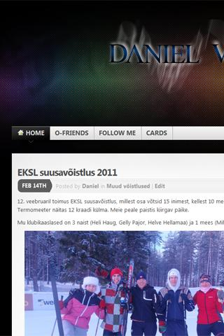 Orienteer Daniel Vasser's blog - screenshot