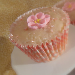Vanilla Buttermilk Cupcakes with a Framboise Glaze