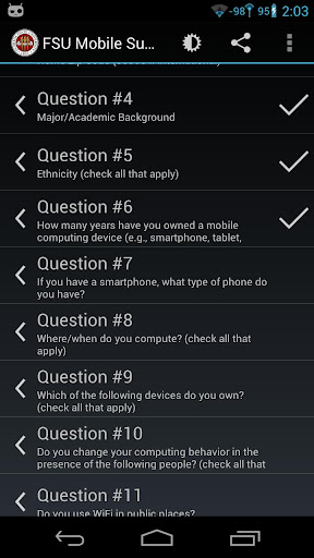 FSU Mobile Usage Survey