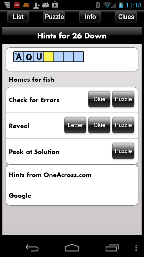 Crosswords - screenshot