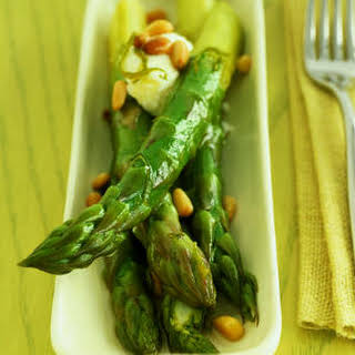Honey-Lime Asparagus with Goat Cheese.