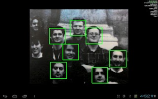 Screenshot of OpenCV Face Detection