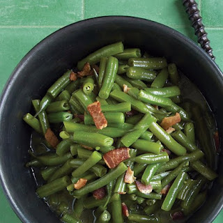 Stewed Green Beans with Bacon.