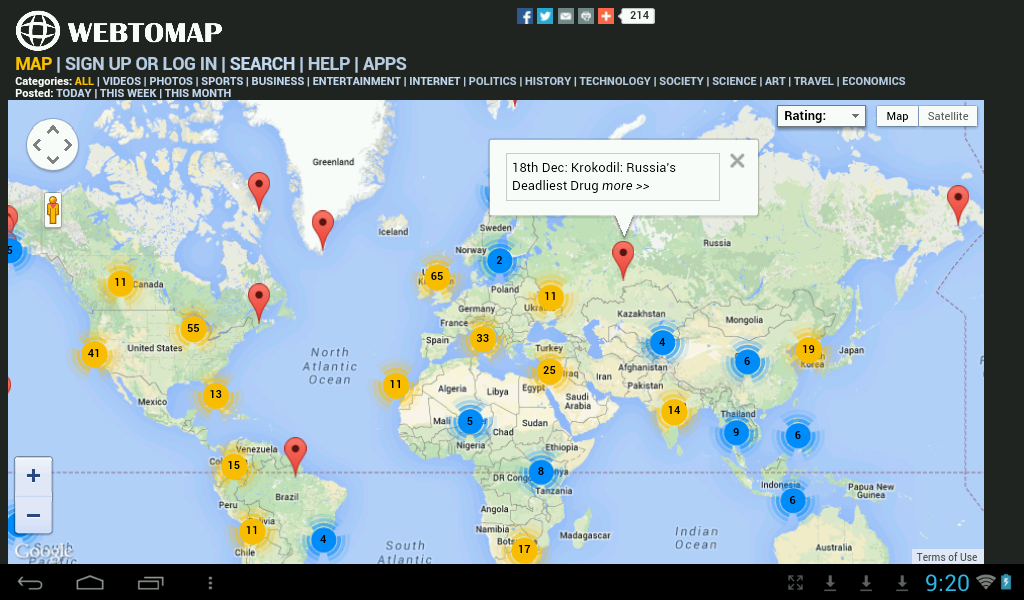 Documentary and Video Map Google Play Android