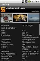 Screenshot of Exif Droid